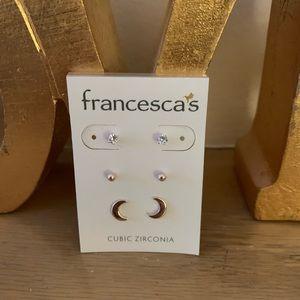 Francesca's set of 3 earrings